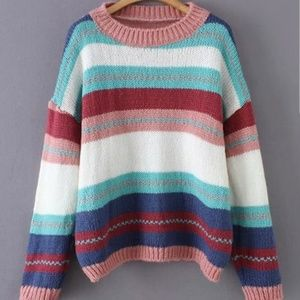 Sweaters - Colorful Striped Sweater Jumper